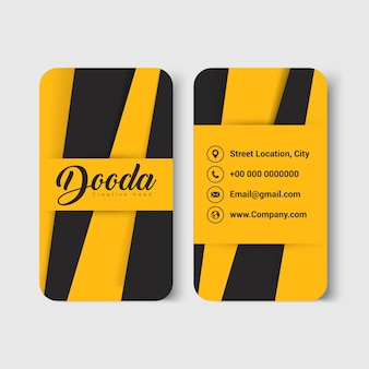 Geel modern visitekaartje