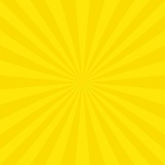Geel zonnestraal achtergrond ontwerp