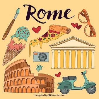 Geïllustreerd Rome elementen