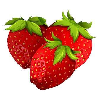 Gekleurde aardbeien ontwerp