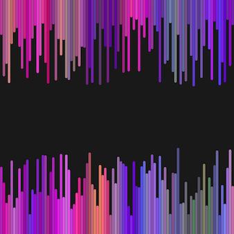 Gekleurde achtergrond van verticale afgeronde strepen in donkere tinten - abstract vector grafisch ontwerp