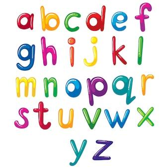 Gekleurde alfabet ontwerp