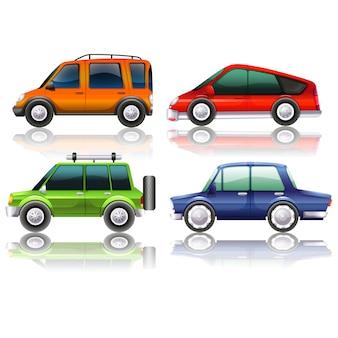 Gekleurde auto's collectie