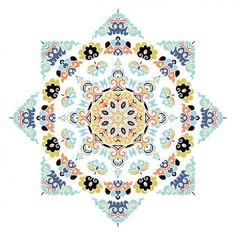 Gekleurde mandala ontwerp