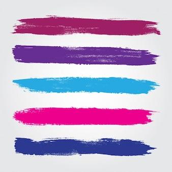 Gekleurde penseelstreken collectie