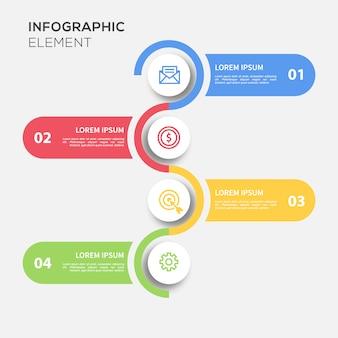 Gekleurde Ronde Infografische Sjabloon