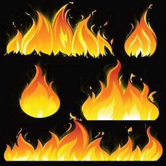 Gekleurde vlammen collectie