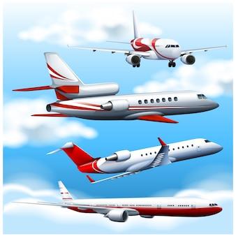 Gekleurde vliegtuigen collectie