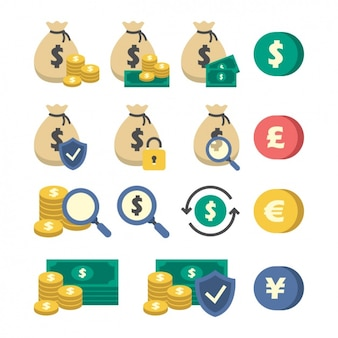 Geld iconen collectie