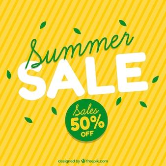 Gele achtergrond van de zomer verkoop