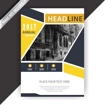 Gele en witte zakelijke brochure