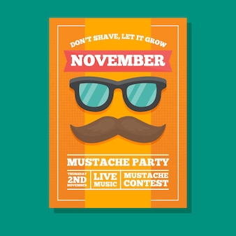 Gele movember party brochure