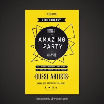Gele partij poster
