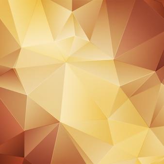 Gele veelhoekige achtergrond