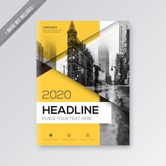 Gele zakelijke brochure