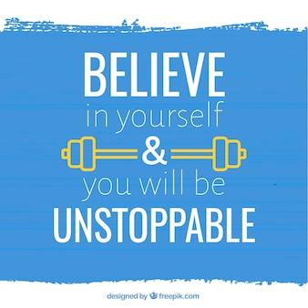 Geloof in jezelf achtergrond