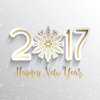 Gelukkig Nieuwjaar achtergrond met sneeuwvlok ontwerp