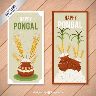Gelukkig Pongal kaarten