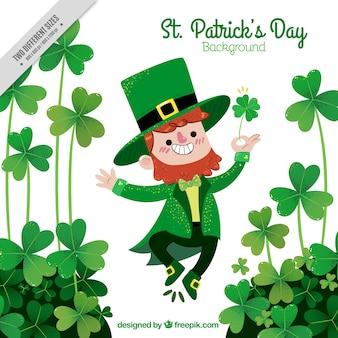 Gelukkig st. Patrick's Day elf achtergrond
