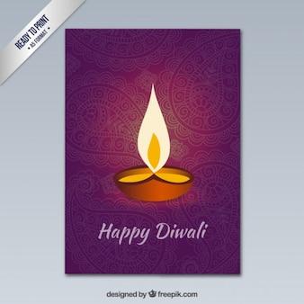 Gelukkige Diwali groet met ornamenten