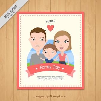 Gelukkige familie dagkaart