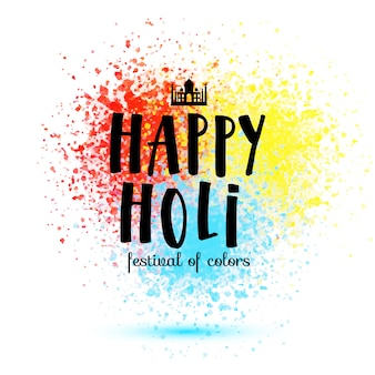 Gelukkige Holi festival illustratie