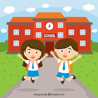 Gelukkige kinderen op school