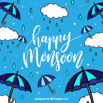 Gelukkige moessonachtergrond