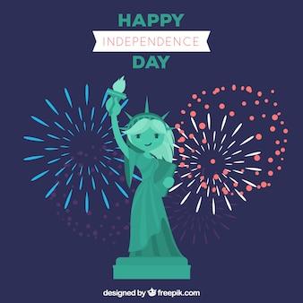 Gelukkige onafhankelijkheidsdag achtergrond