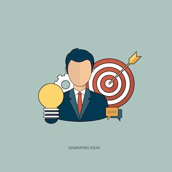Generatie ideeën business concept