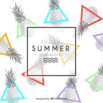 Geniet van de zomer ananas