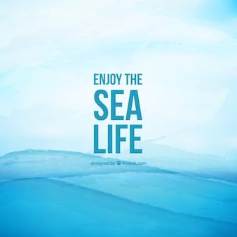 Geniet van het leven in de zee