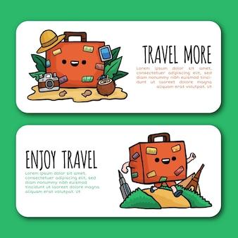 Geniet van reisbanner