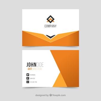 Geometrisch abstract adreskaartje