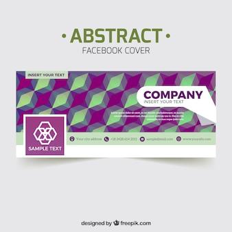 Geometrische bedrijf facebook cover