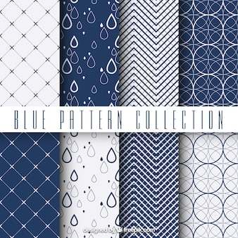 Geometrische blauwe patronen