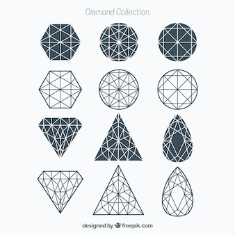 Geometrische diamant collectie