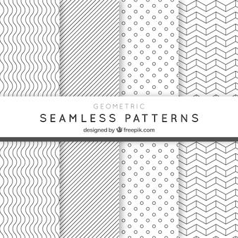 Geometrische naadloze patronen pak