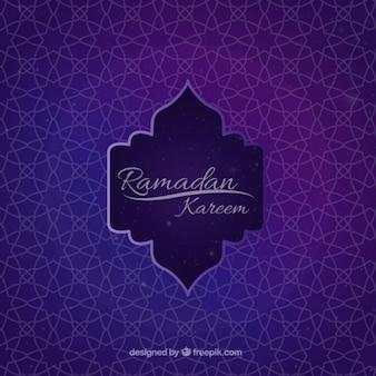 Geometrische sier ramadan achtergrond