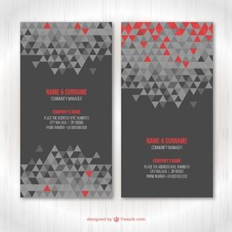 Geometrische visitekaartje sjabloon