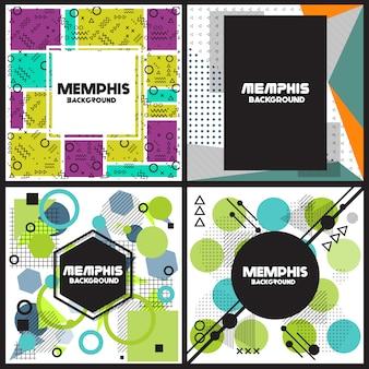 Geometrische vormen flyers ontwerp