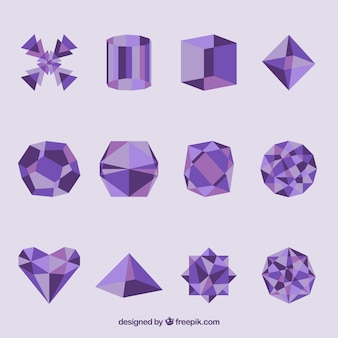 Geometrische vormen in paarse kleur