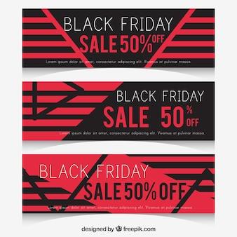 Geometrische zwarte vrijdag banners