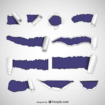 Gescheurd papier vector pack