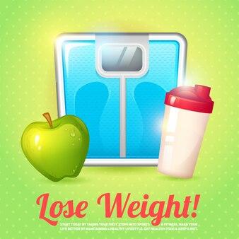 Gewicht poster dieet