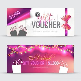 Gift voucher roze ontwerp