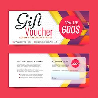 Gift Voucher Vector achtergrond voor banner, poster, flyer