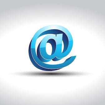 Glanzend blauw email symbool vector
