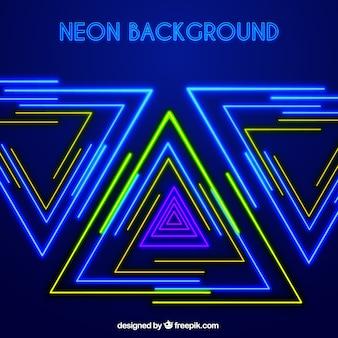 Glanzende achtergrond met groene en blauwe neon verlichting