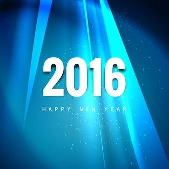Glanzende wenskaart van het nieuwe jaar 2016